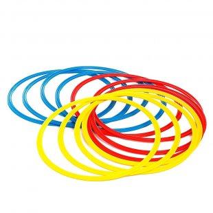 Кольца тренировочные (комплект 12 шт, 3 цвета, 40см) + сумка